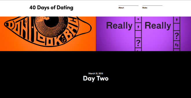 40 days of dating website