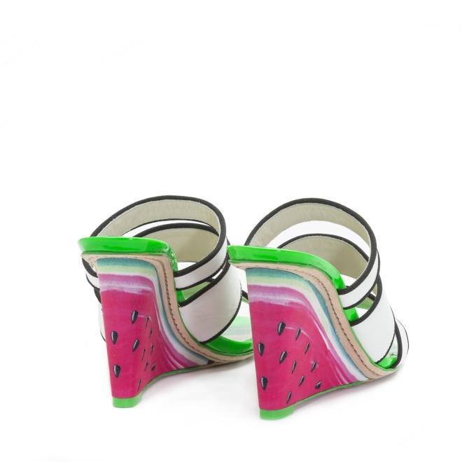 Sophia Webster Brooke Watermelon Pink Wedge 3