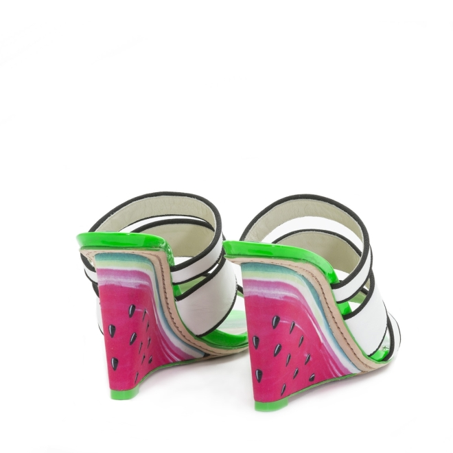 Sophia Webster Brooke Watermelon Pink Wedge 3