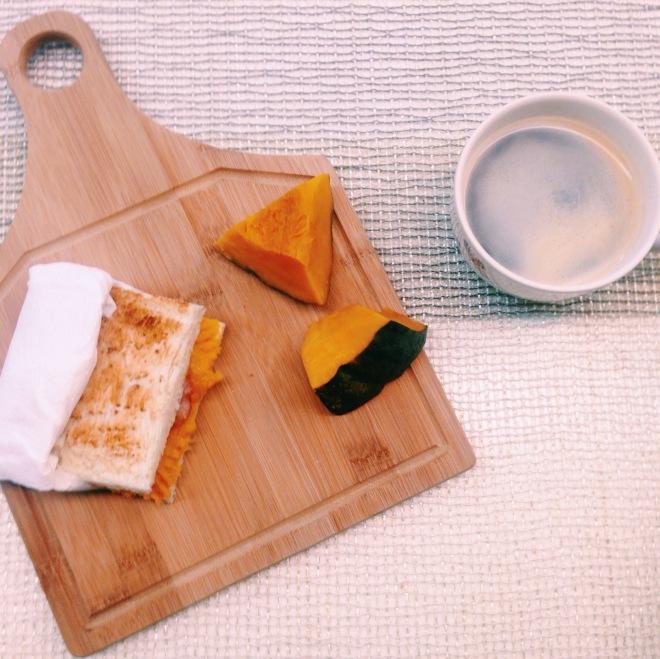 栗子南瓜火腿吐司早餐-lasharlote水果奶油蛋糕小姐