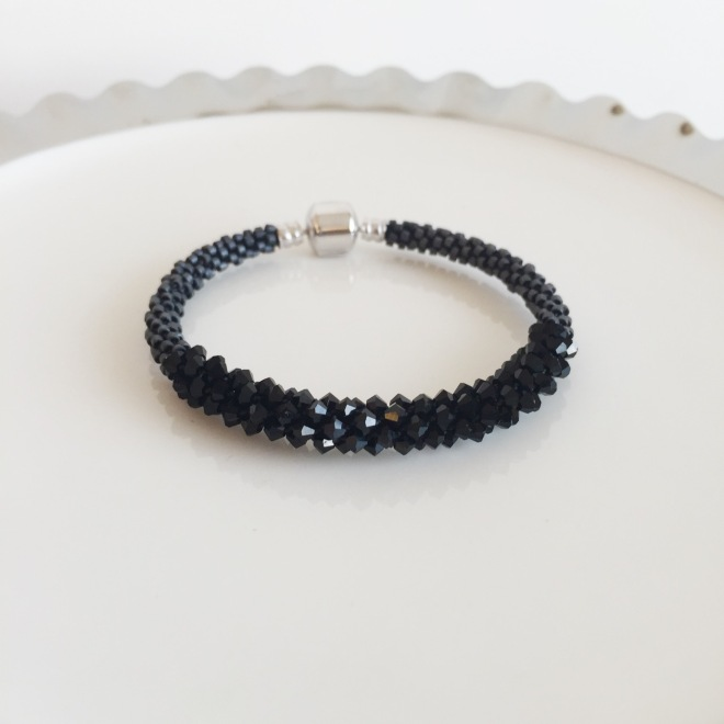 Charlate-all black bracelet