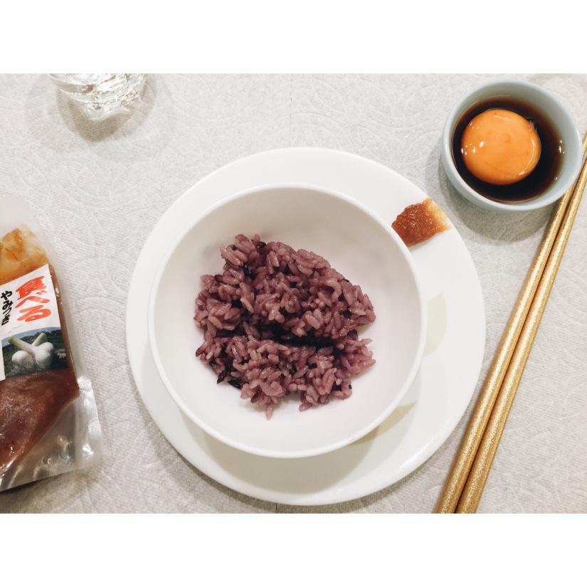 {food} 日本旅遊 仙台食物分享 醃漬物雞蛋黃配熱飯