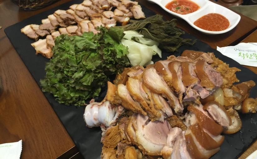 {food} 韓國首爾自助旅行-弘大 綠線三號出口豬腳店