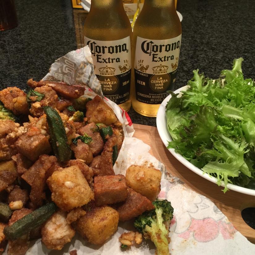 [生活中的微上火] 給我一瓶啤酒和一份鹽酥雞