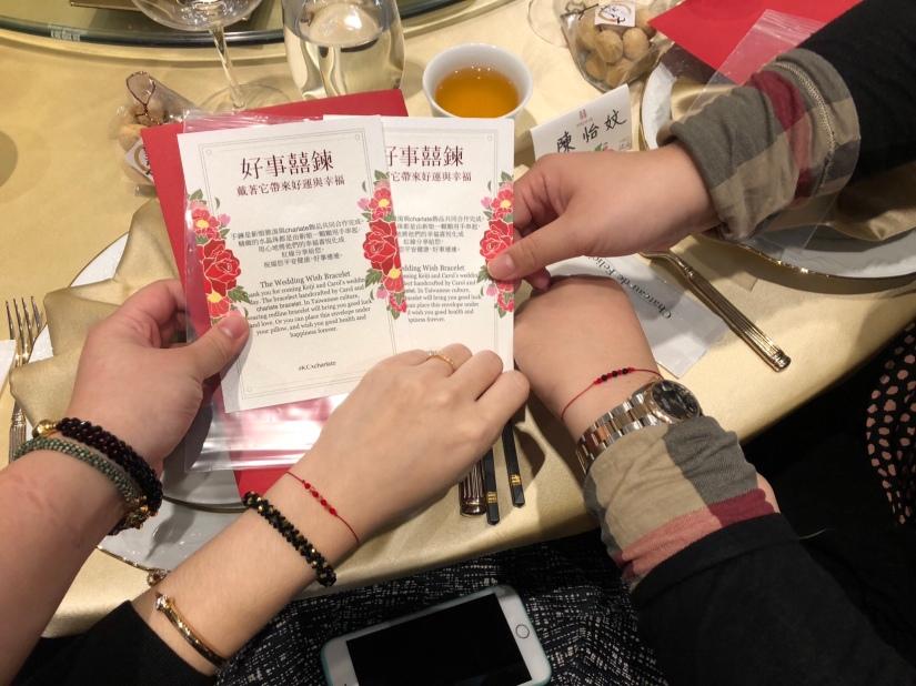 [婚禮籌備] charlate紅線手鍊-串起幸福的結婚計畫-好事囍鍊-最精緻獨特婚禮小物
