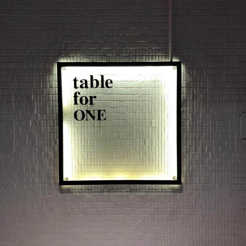 台北松山區食記-小巨蛋捷運站-Table for one-一人餐桌-套餐-享受單純的食物與孤獨?